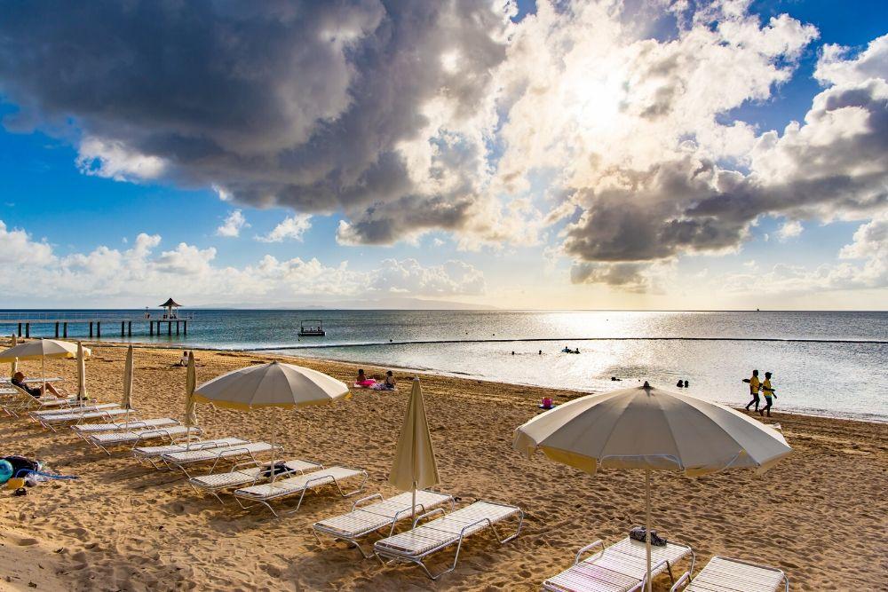 フサキビーチのサンセット