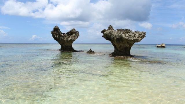 古宇利島のハートロック