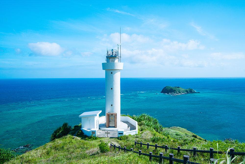 石垣島の平久保崎灯台(ひらくぼさきとうだい)