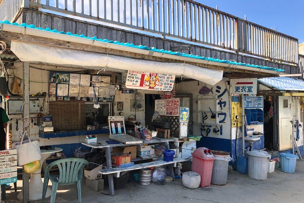 伊計島大泊ビーチのランチ