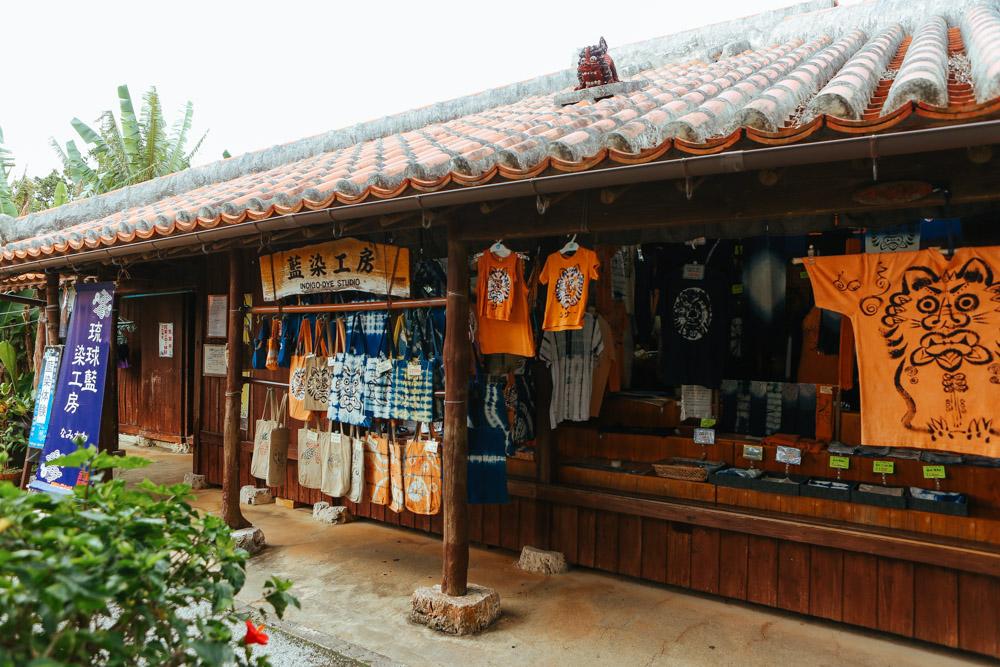 沖縄旅行で藍染め体験
