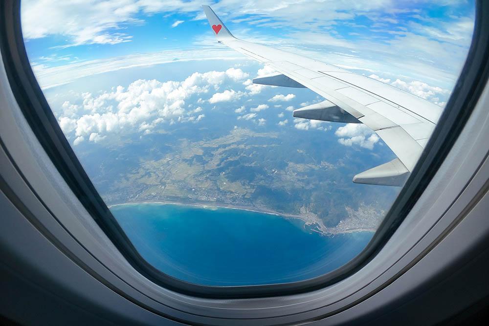 那覇空港上空の眺め