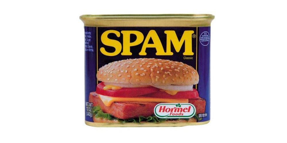 ポークたまごおにぎりに使用するスパム缶