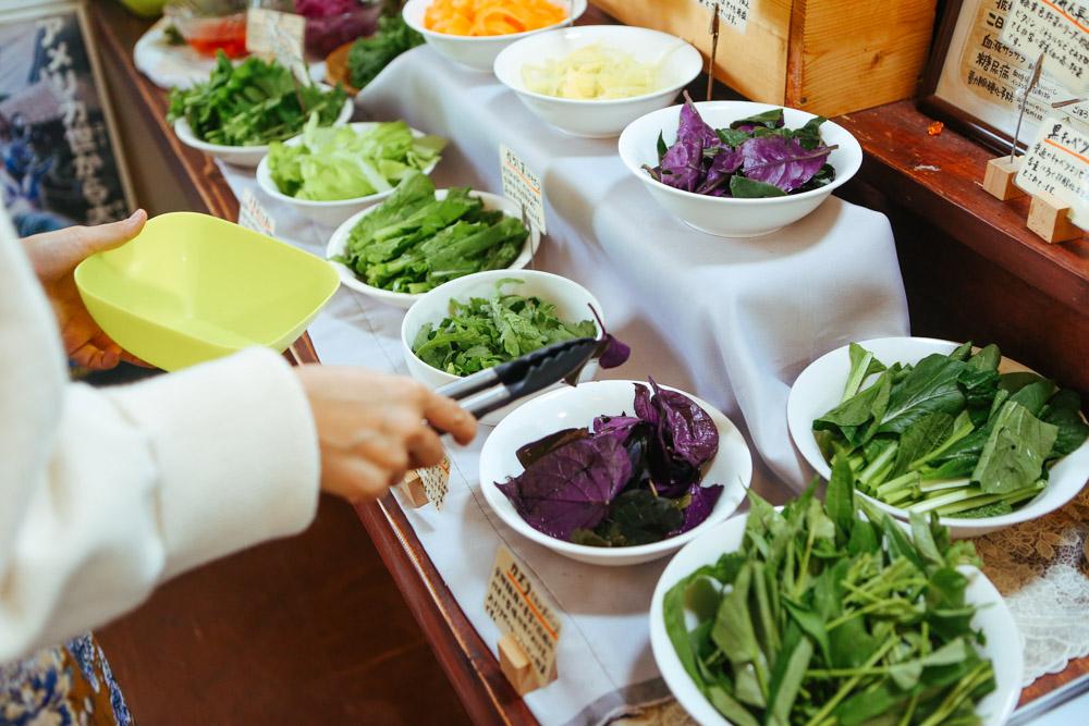 沢山の野菜が選べる