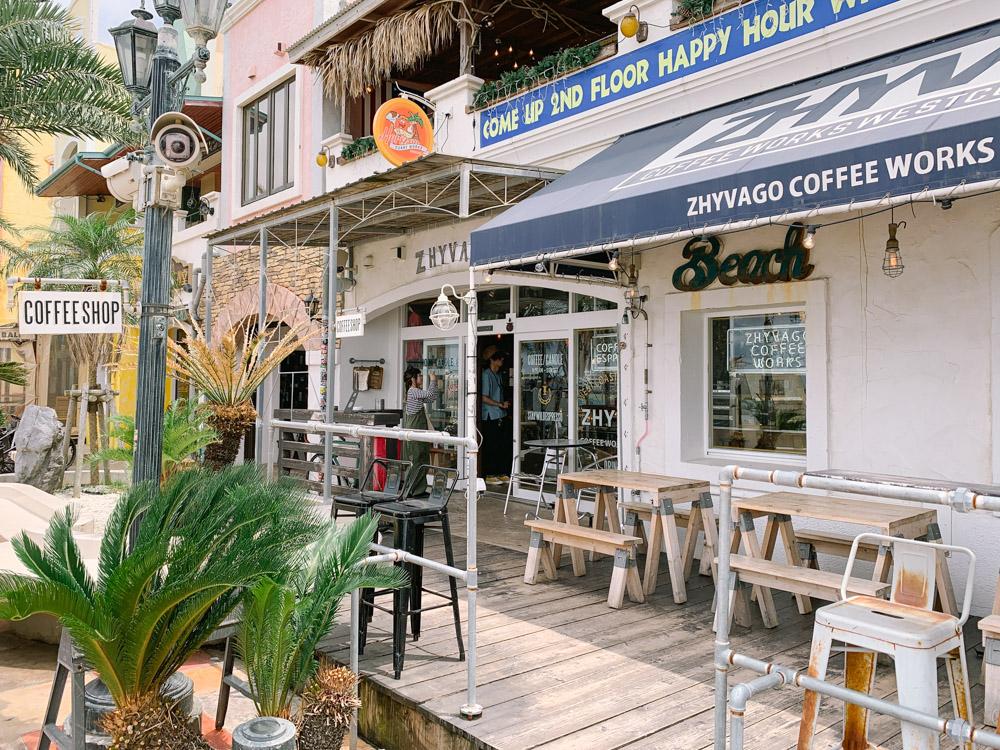 ジバゴコーヒーワークスの外観