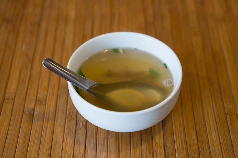 アリドイタイレストランのスープ