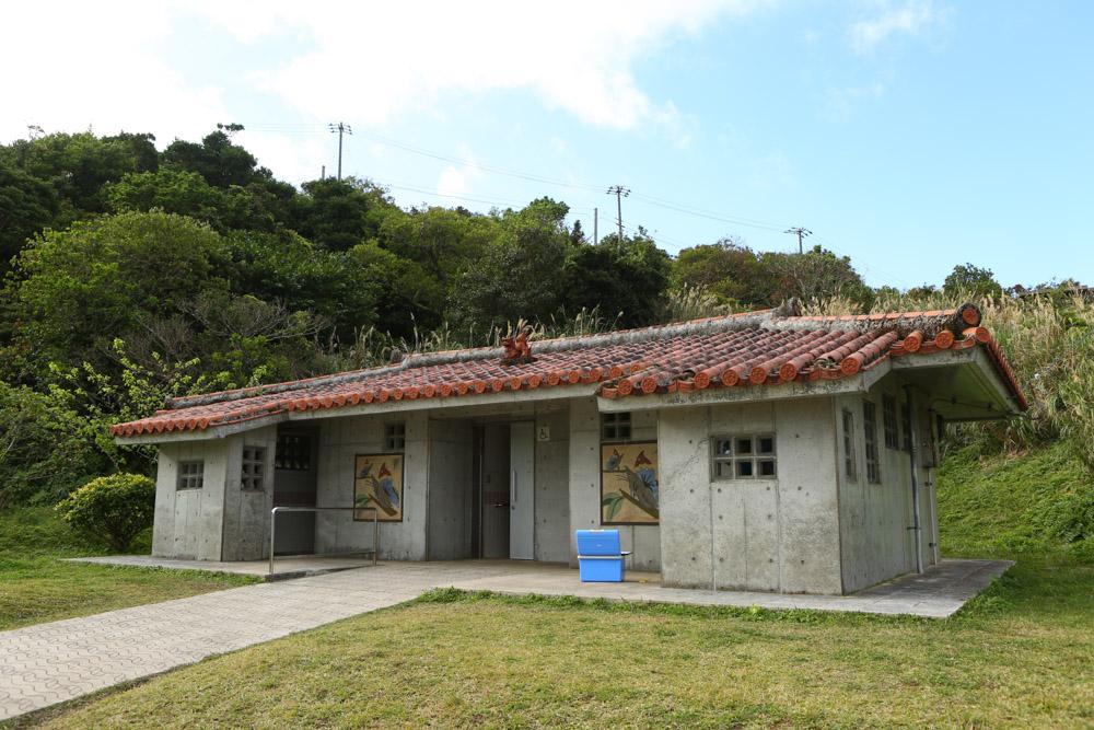 本部八重岳桜祭りの頂上のトイレ