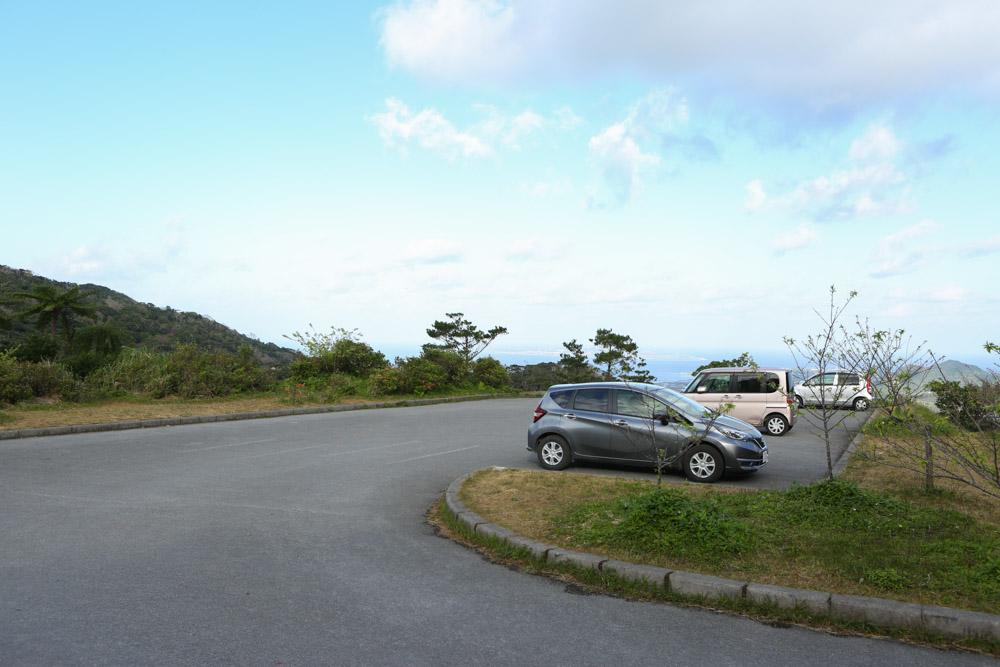 本部八重岳桜祭りの駐車場