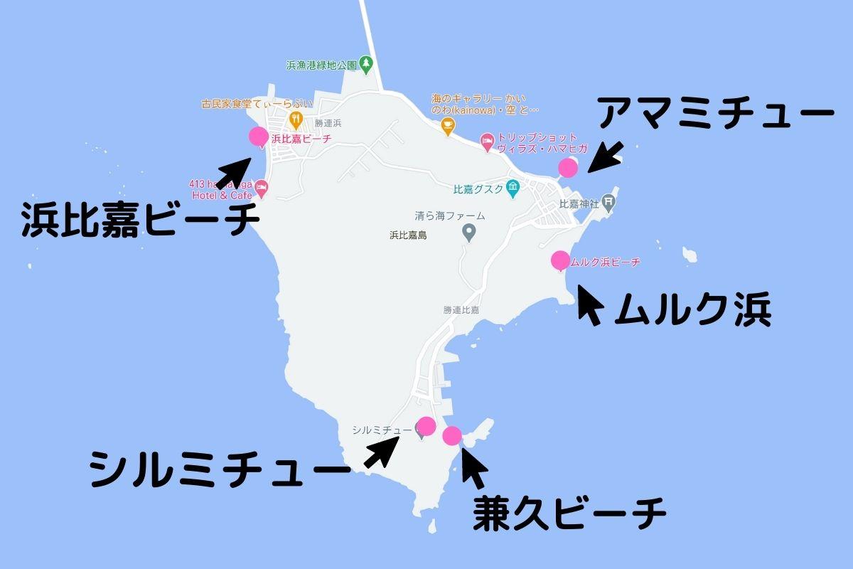 浜比嘉島マップ
