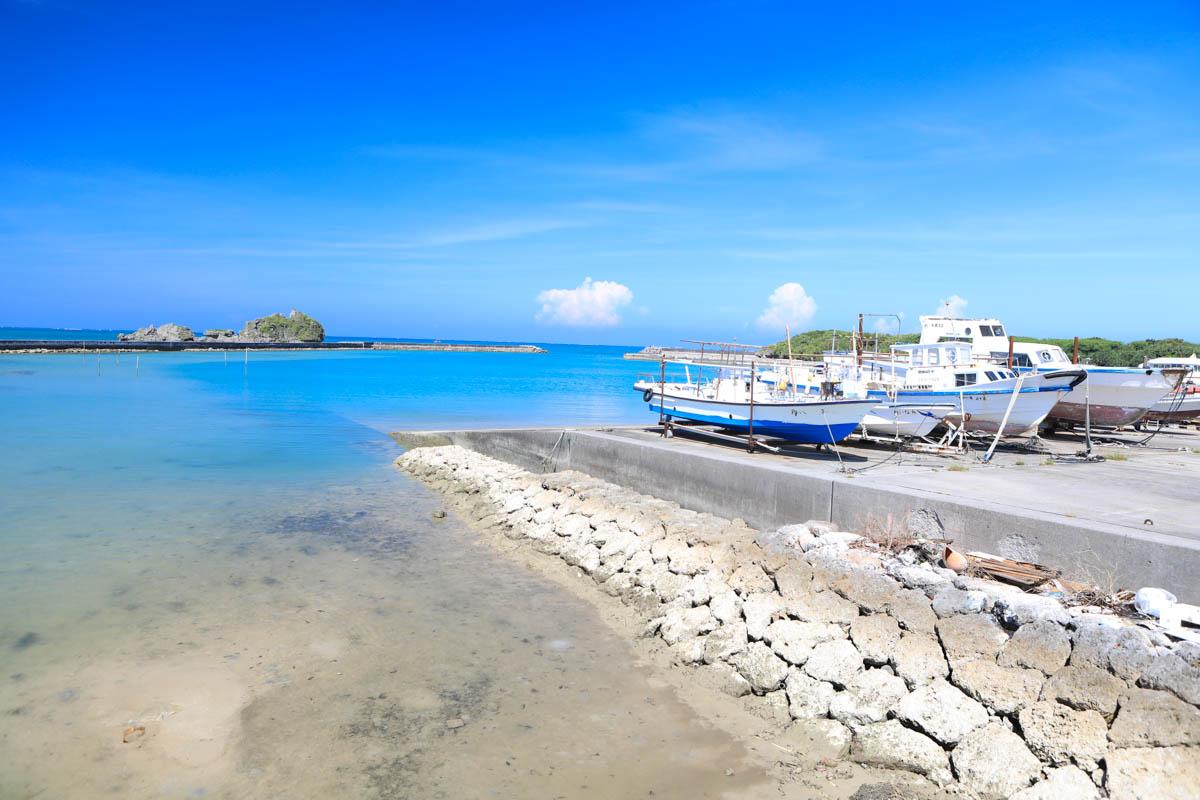 浜比嘉島の港