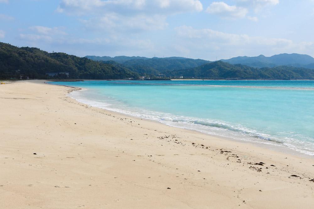 水質AAのビーチ