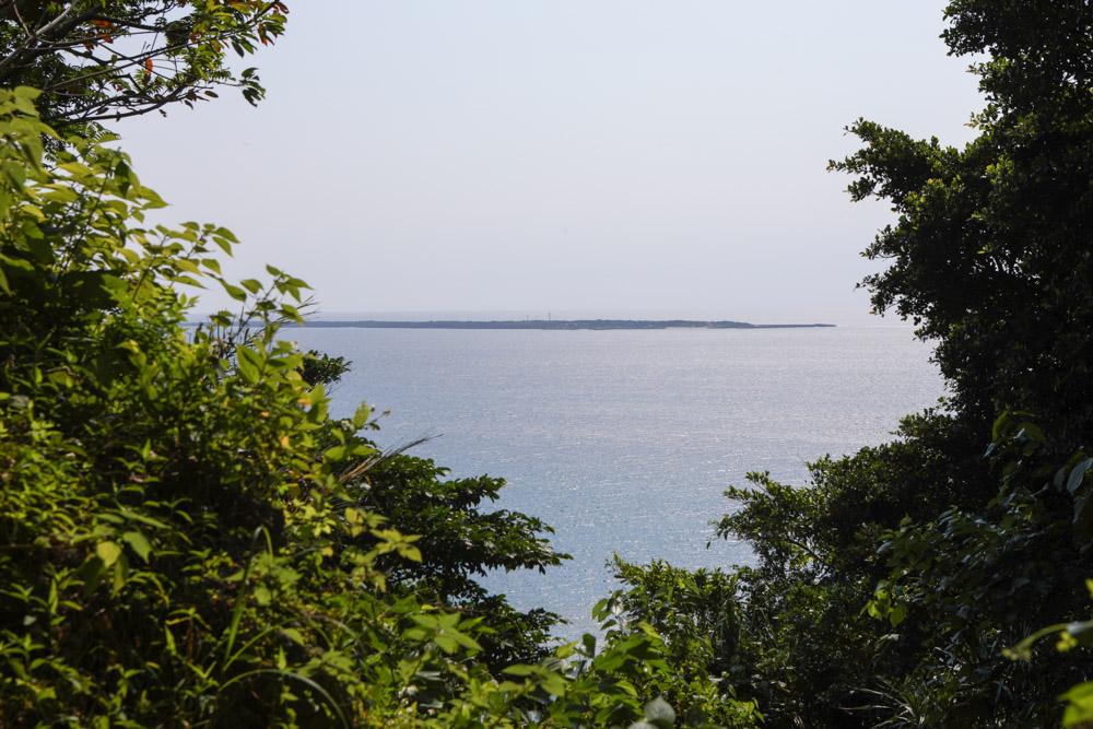 久高島が見える