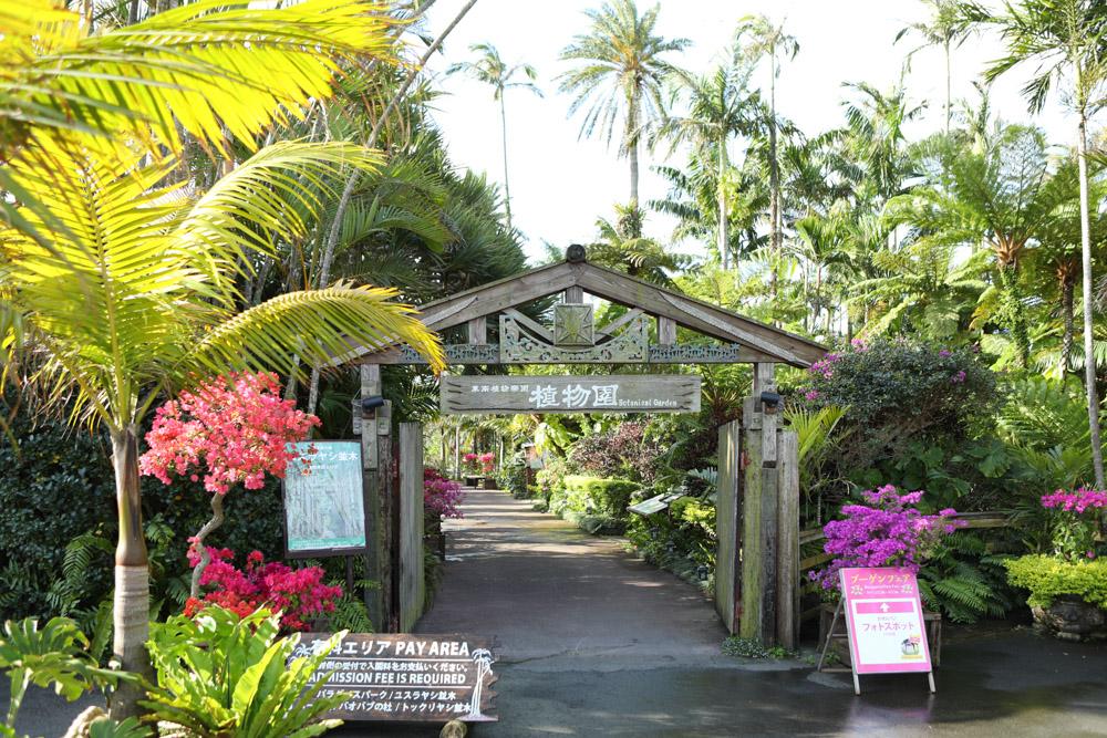 植物園エリアの入り口