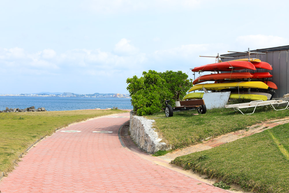 トロピカルビーチのマリンスポーツの受付場所