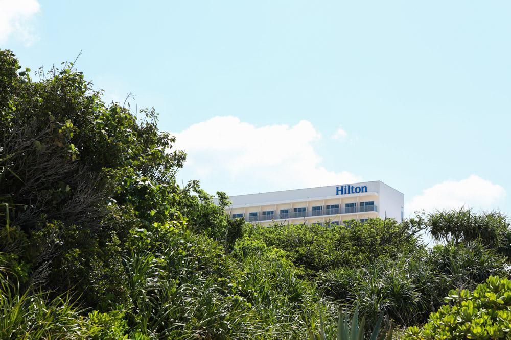 建設中のヒルトン