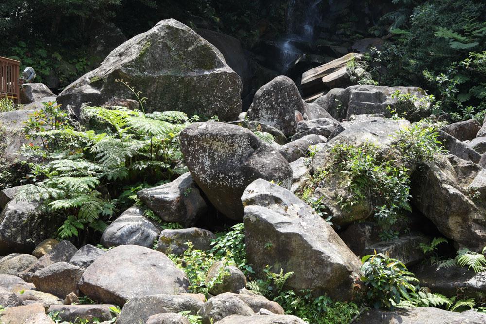 ゴツゴツした岩