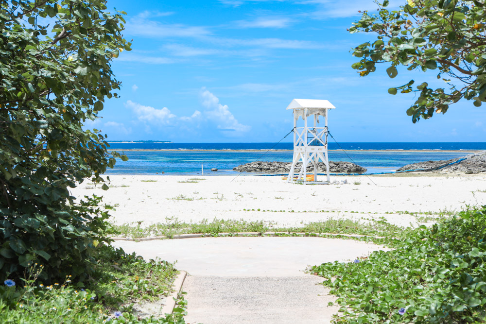 海洋博公園のビーチ
