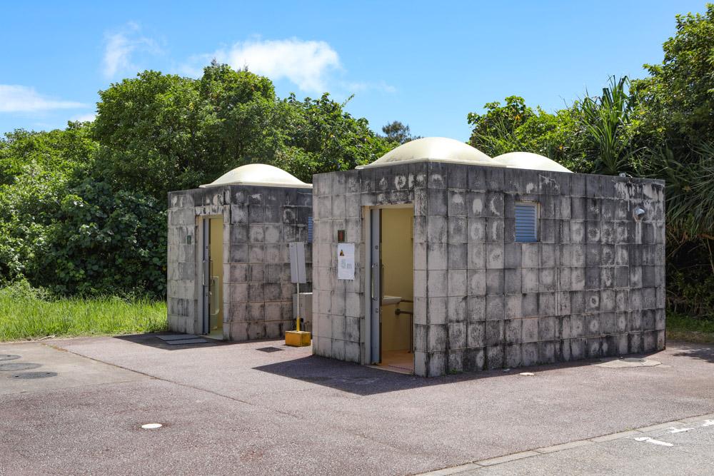 東村ウッパマビーチのトイレ