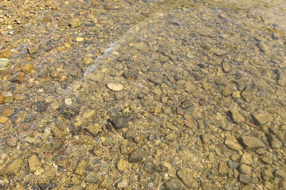 石が多いビーチ