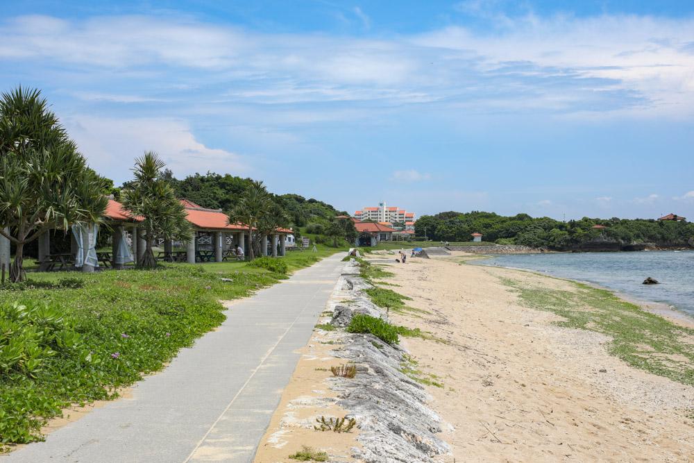 とぐちビーチの砂浜