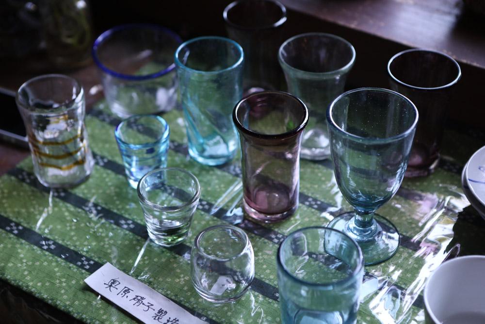 奥原硝子製造のコップ