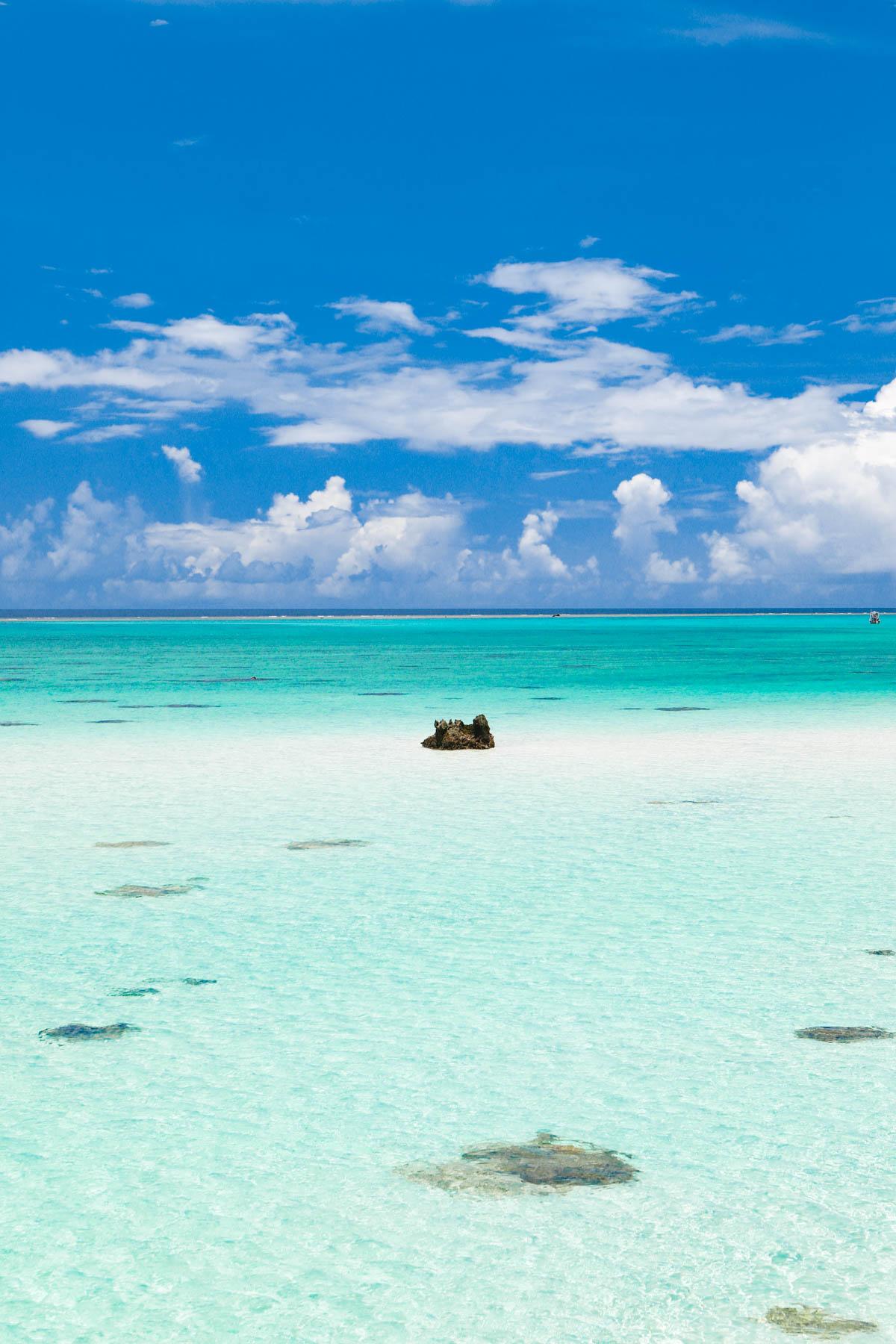 干潮の時に現れる天国のような浜