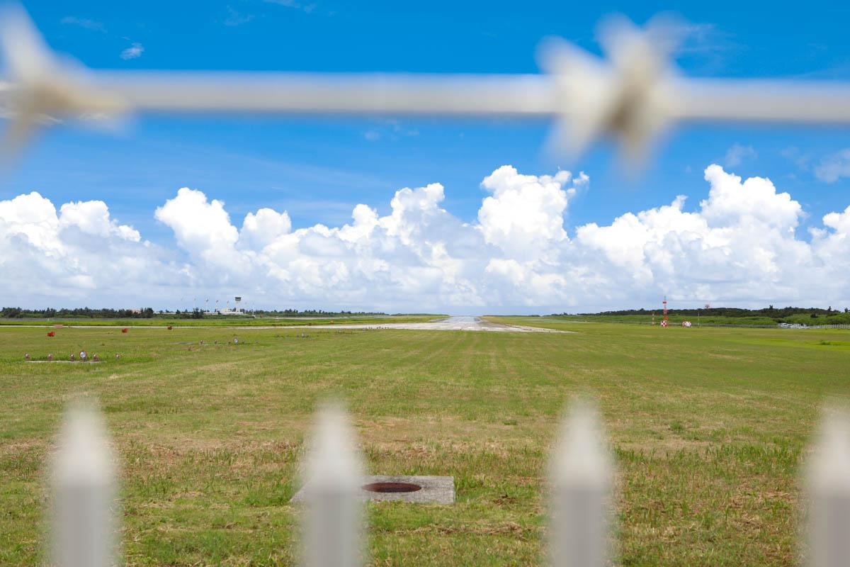 下地島空港の芝生