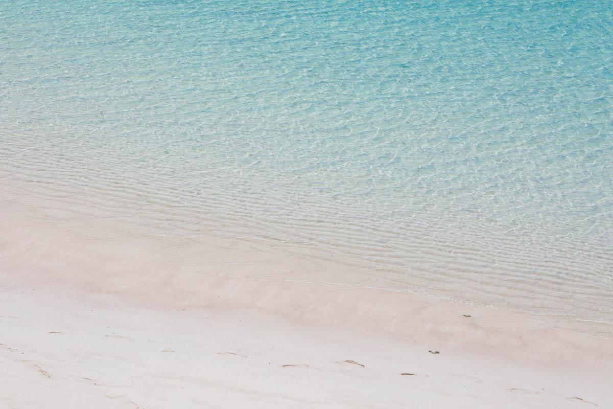 波打ち際の透明度