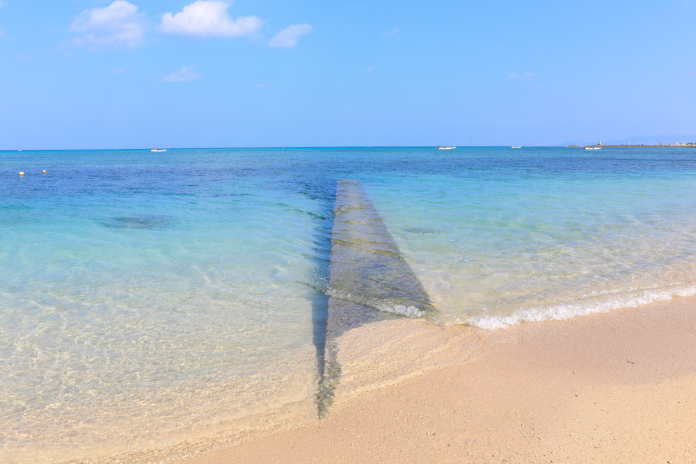 冨着ビーチの桟橋