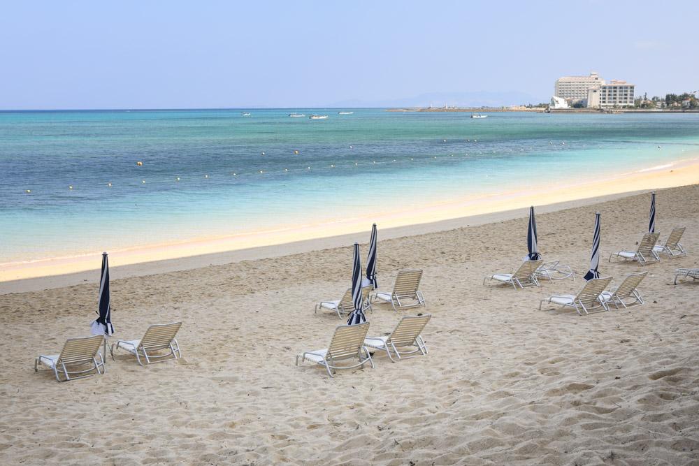 日陰の多い砂浜