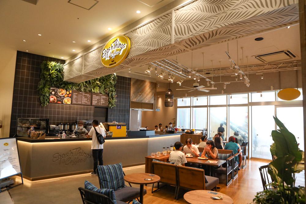 エッグスンシングスのカフェ