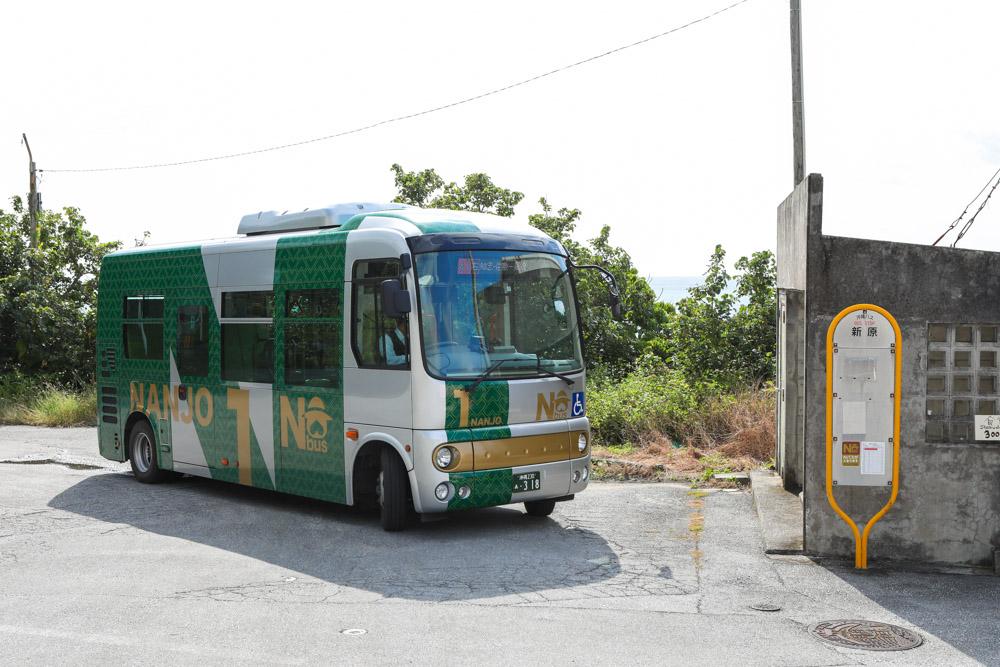 新原ビーチへのバス