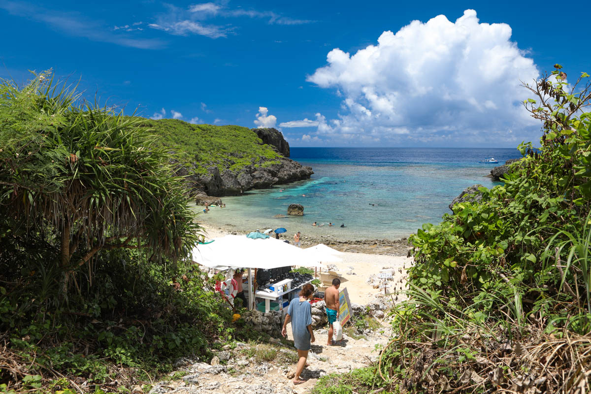 中の島ビーチの入り口