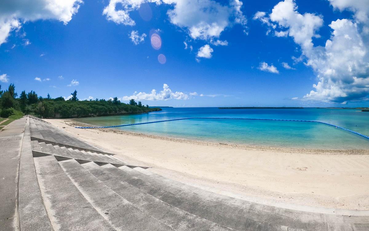 宮古島の市街地から一番近いビーチ