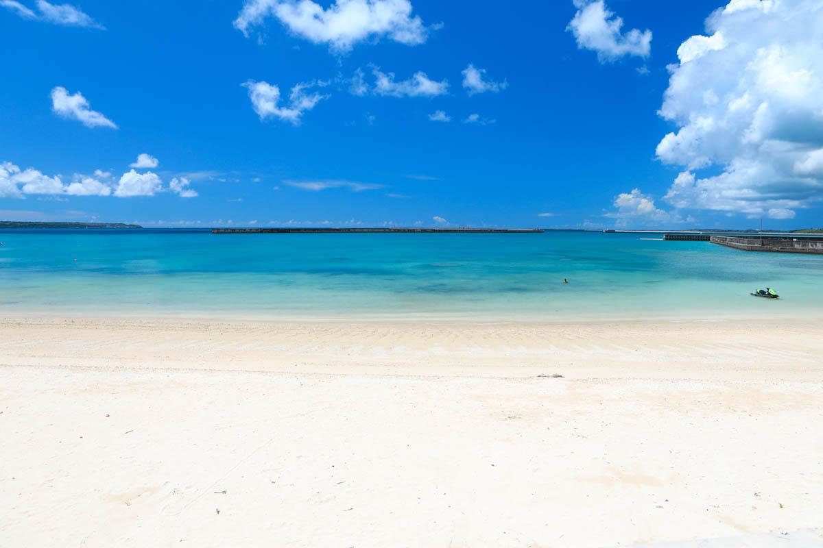 宮古ブルーのパイナガマビーチ