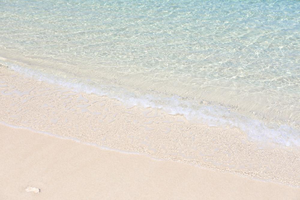 村民の浜の透明度
