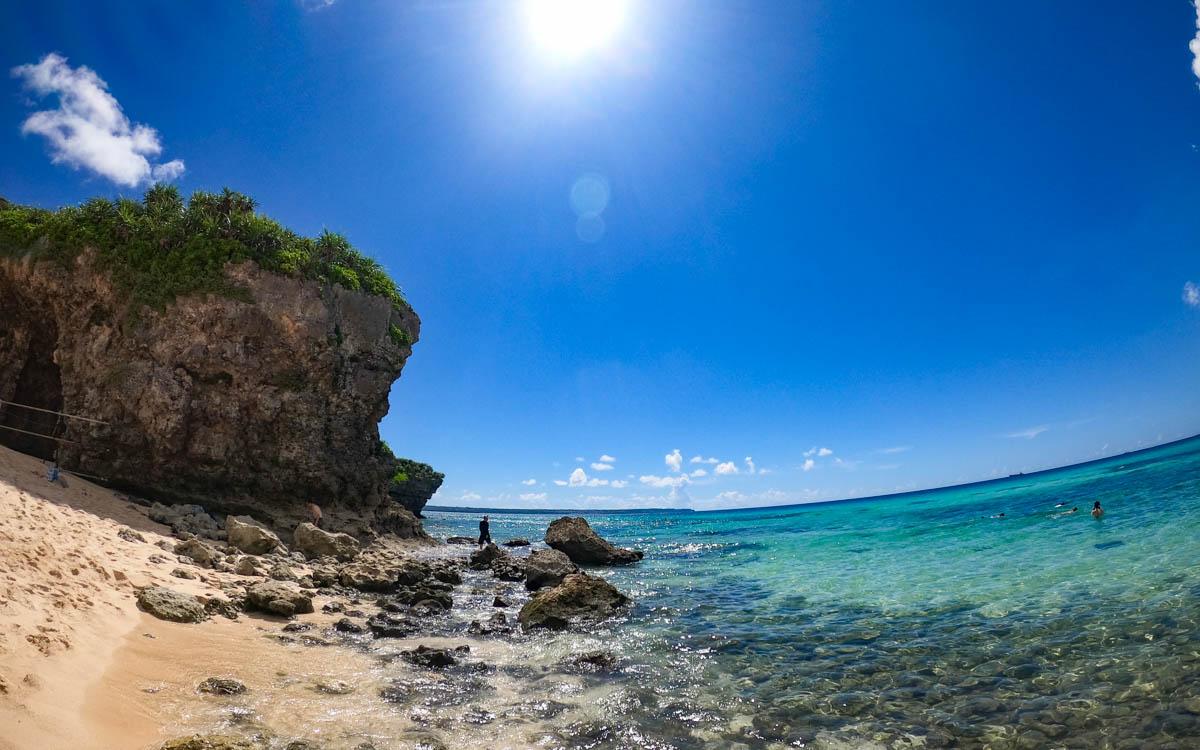 干潮の砂山ビーチ