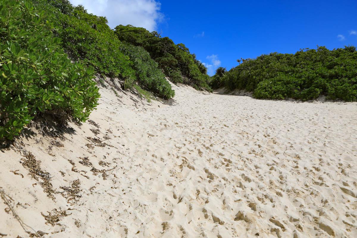 砂山ビーチのキツイ山