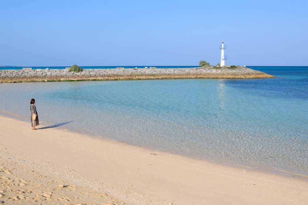 広いサンマリーナビーチ