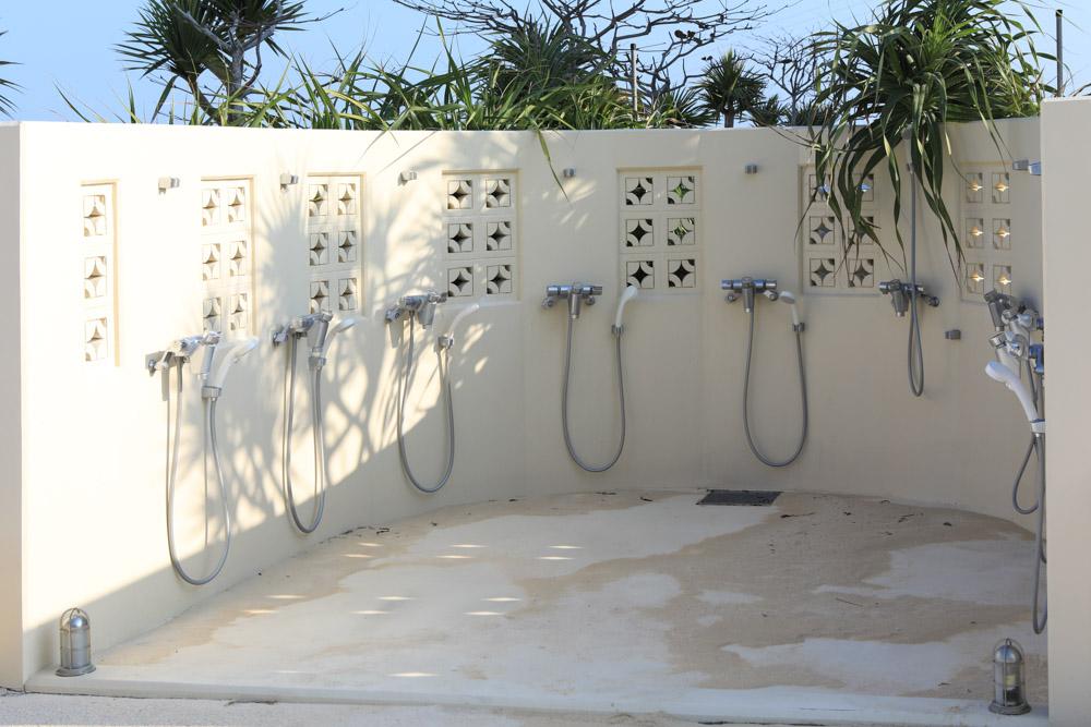 無料の足洗い場