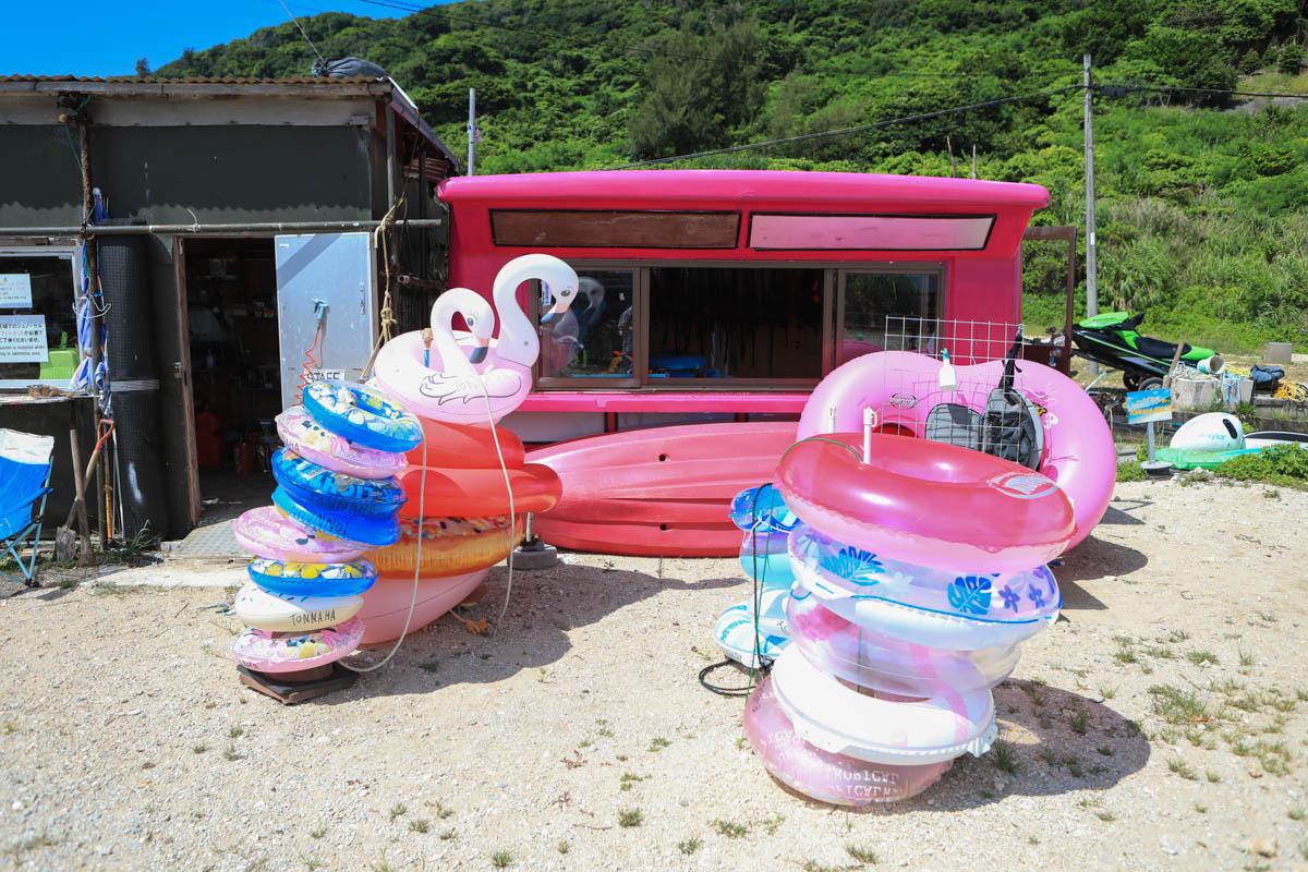 トンナハビーチのレンタル用品の一覧