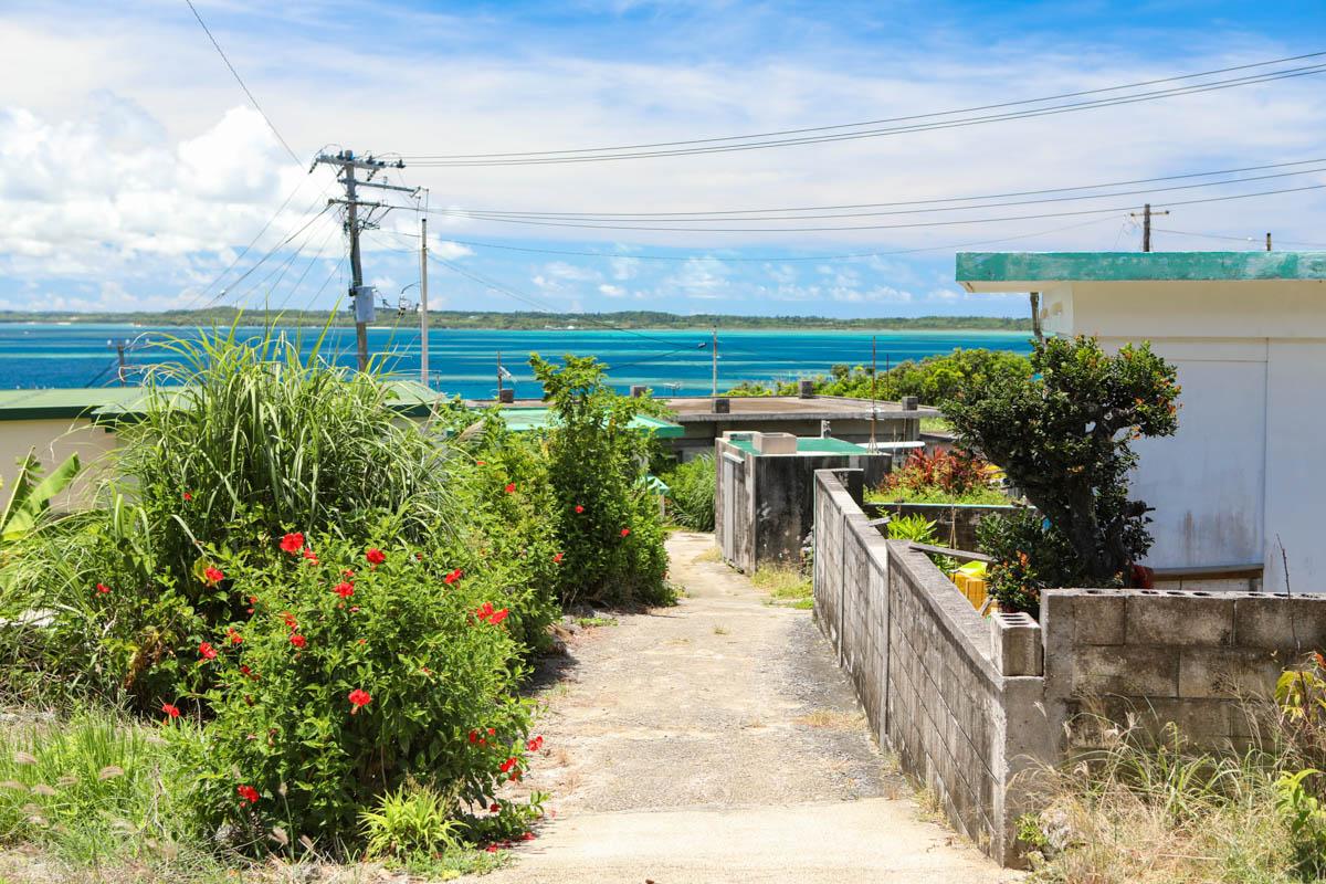 大神島の古い家々