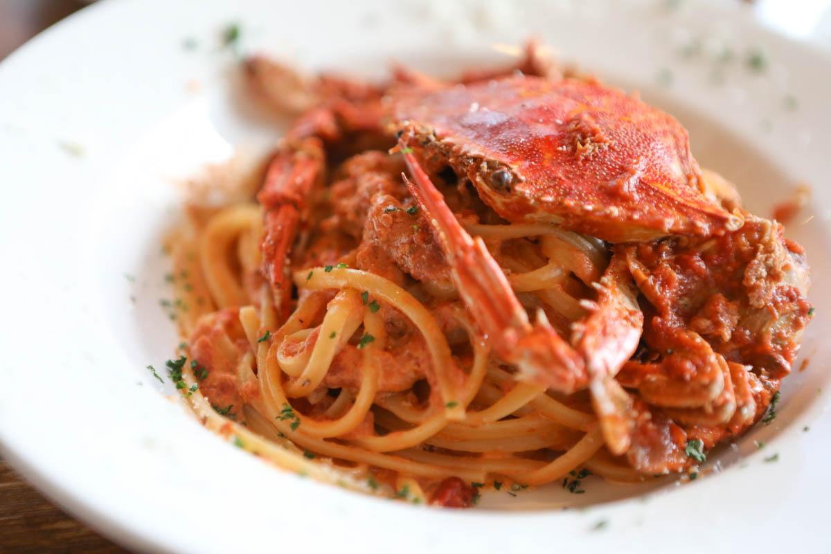 わたり蟹のトマトクリームソース リングイネ
