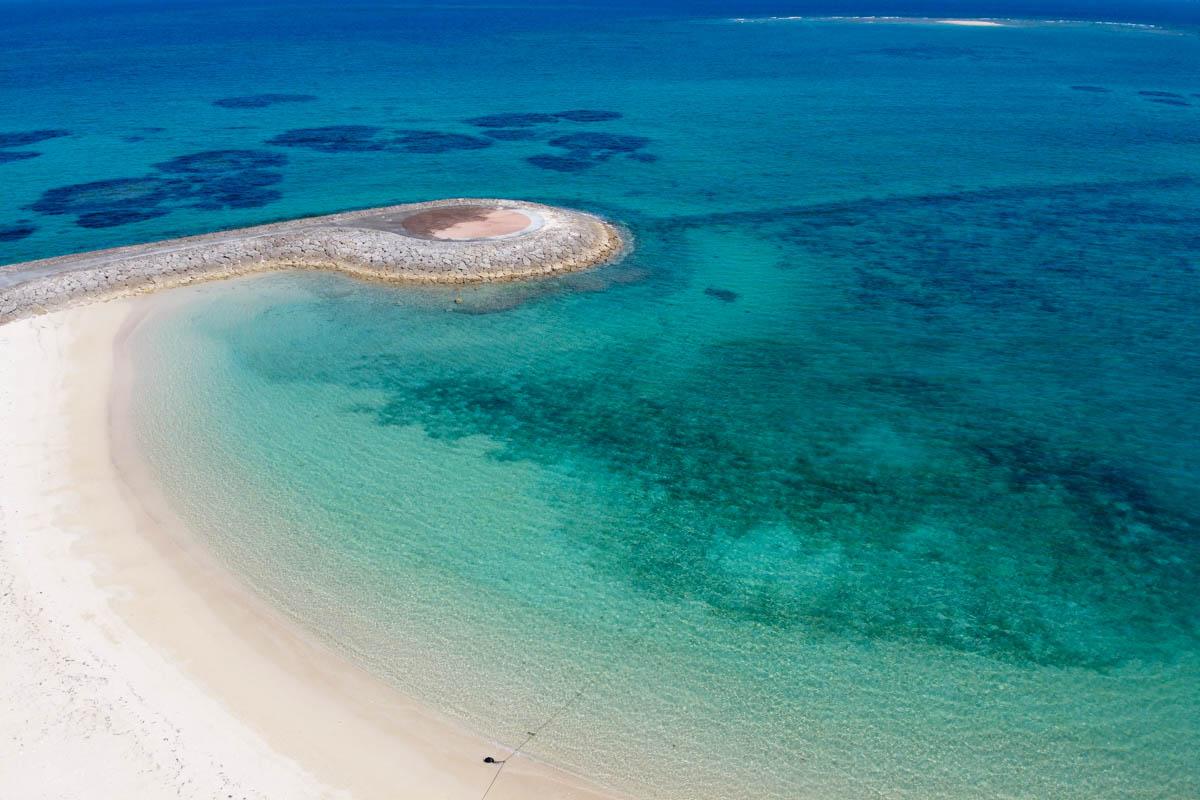 沖縄南部 高い透明度の海