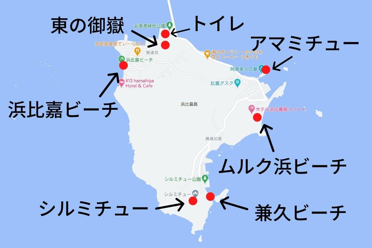 浜比嘉島の地図