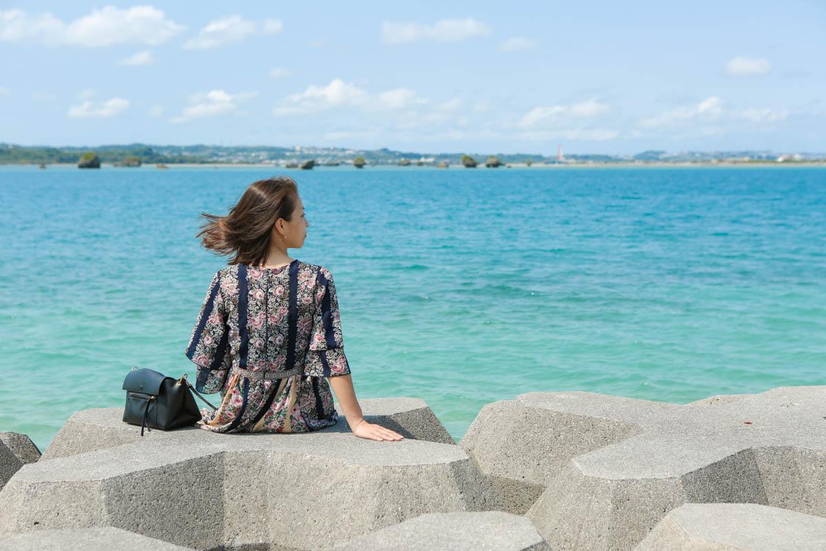 うるま市の浜比嘉島でポートレート撮影
