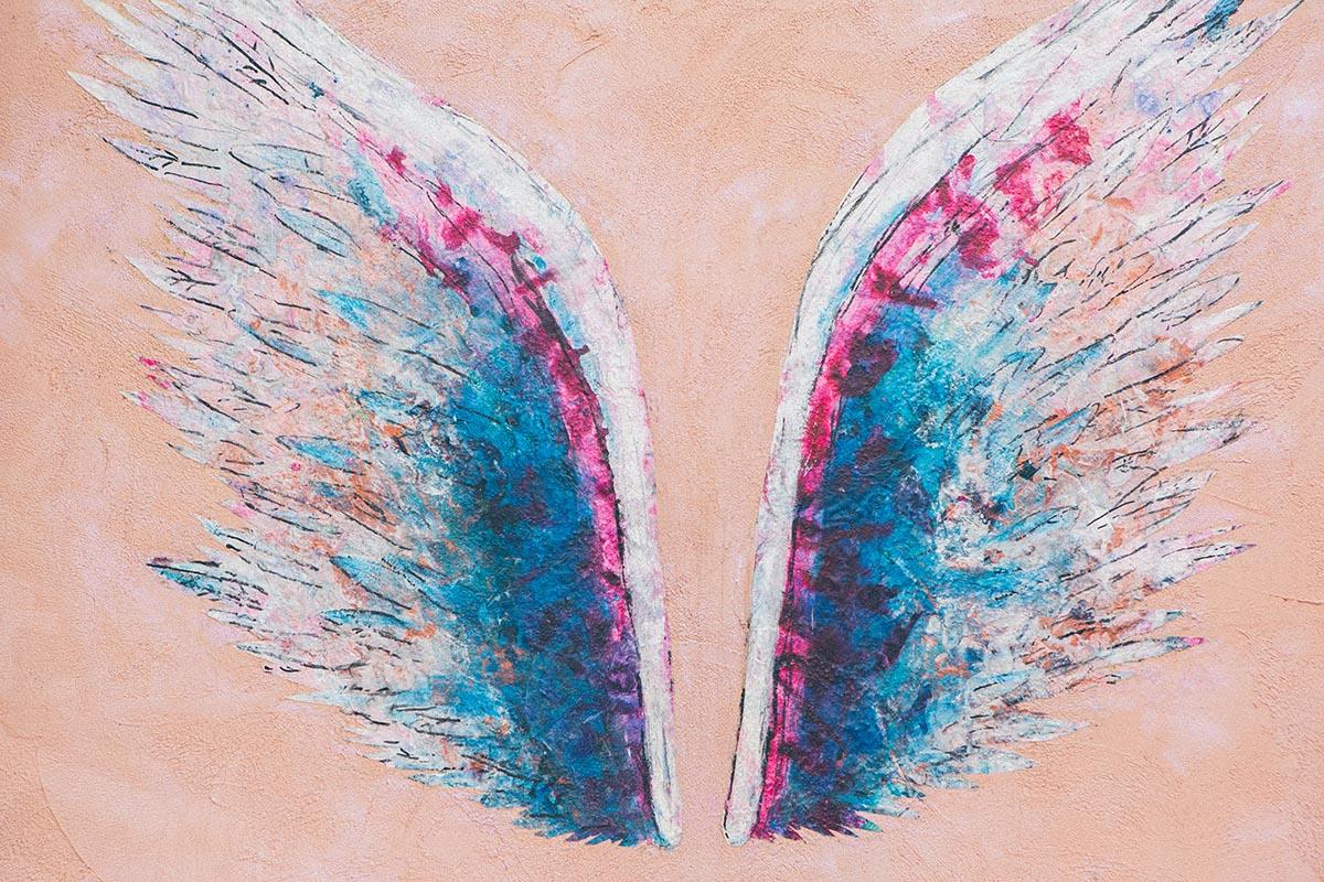 翼(羽) 壁面アート