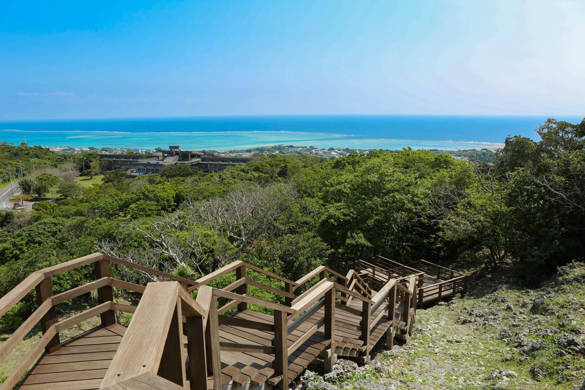 玉城城跡から見える太平洋