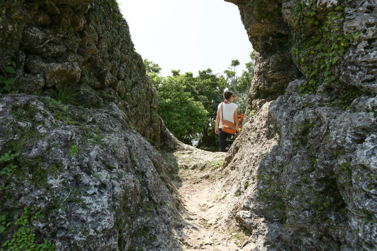琉球石灰岩の穴2