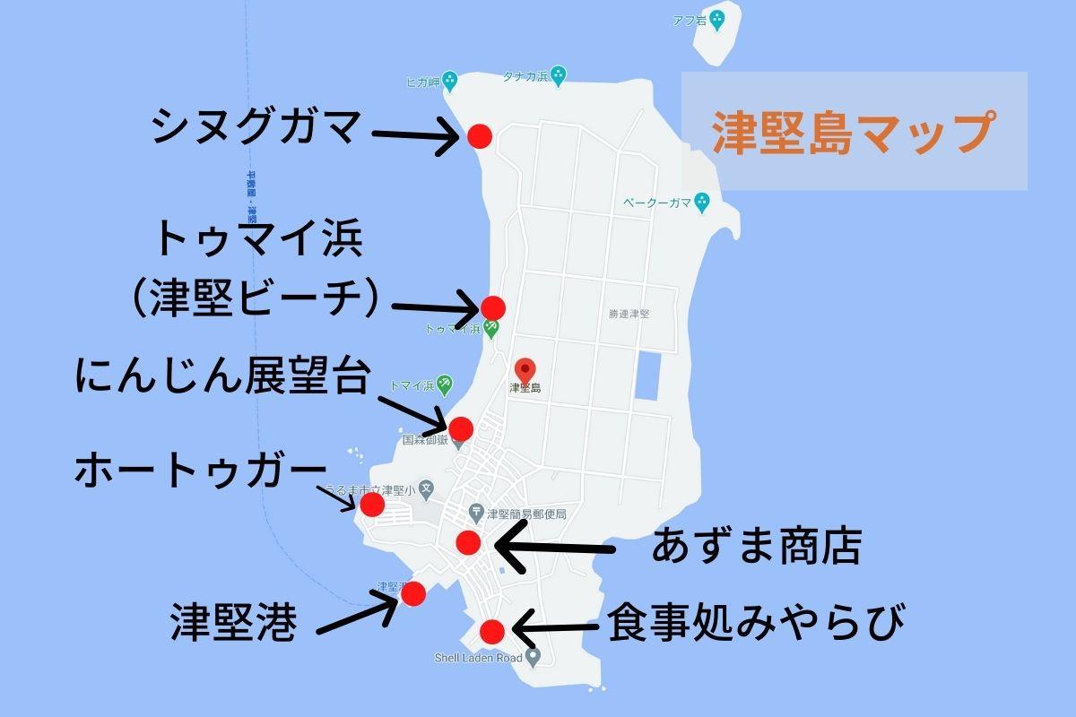 津堅島マップ